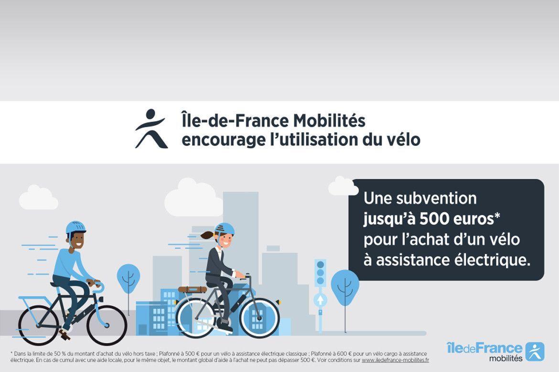 Prime de 500€ pour l'achat d'un vélo électrique.